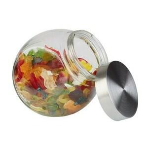 Vorratsdose 1,0 l mit Schraubdeckel H. 18 cm Glas / Edelstahl Assheuer & Pott