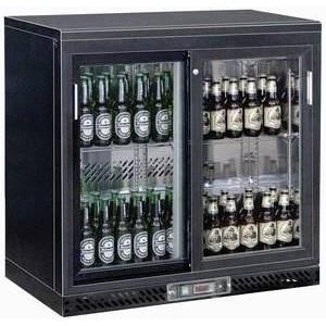 Flaschen-Kühlschrank, 210 l, 2 Glasschie 900 x 520 x 900 230 V / 0,22 kW Cookmax orange