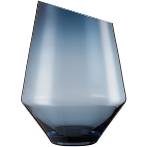 Vase/Windlicht 360 mm blau klar Diamonds Zwiesel 1872