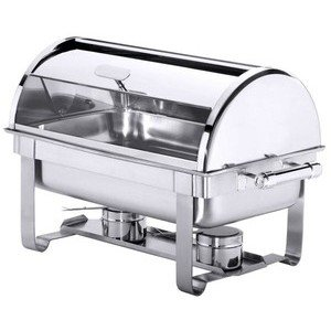 Chafing - Dish Roll-Top GN1/1 CNS 18/10 mit 2 Brennbehältern Contacto