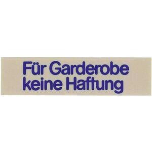 Wortschild FÜR GARDEROBE Contacto