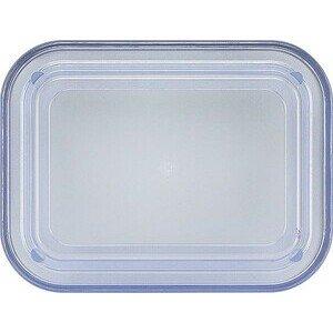 Deckel transparent-blau hoch 130x98 Kunststoff-Deckel Bauscher