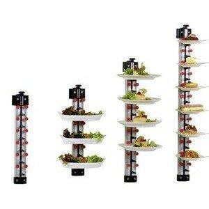 Tellerstapelsystem PLATE MATE Wandmodell für 6 Teller H: 57 cm Cookmax black