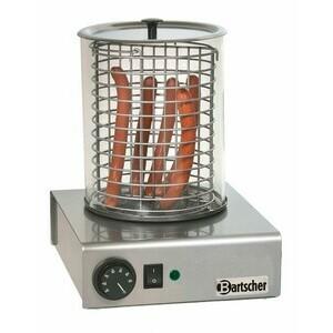 Elektrisches Hot-Dog-Gerät Glaszylinder: Ø 195 mm, 1,0 kW / 230 V Bartscher