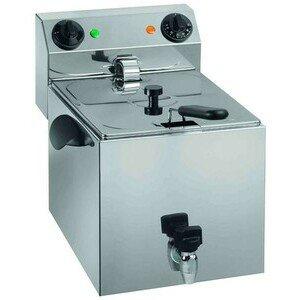Elektro-Fritteuse, 8lt., mit Ablasshan 230V / 3,25kW Cookmax orange