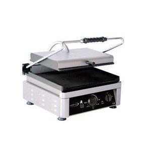 Elektro-Kontaktgrill oben + unten gerill Grillfläche 36x27cm Cookmax black