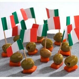 Flaggenpicker 8 cm Italien 500 Stück Papstar