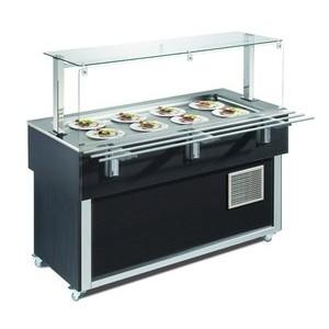 Ausgabe-Element gekühlte Platte GN 3x1/1 Farbe Wenge 230V / 0,229kW Cookmax black