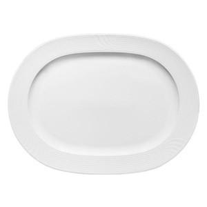 Platte oval 32cm Fahne 2561/32 Carat weiss Bauscher
