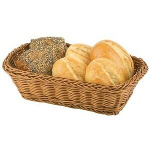 Brot - Obstkorb 31 x 21 cm braun Poly-Rattan abwaschbar Assheuer & Pott