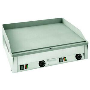 Griddle-Bratplatte Elektro GN 2/1 kplt. glatt 6 KW 400V Cookmax black
