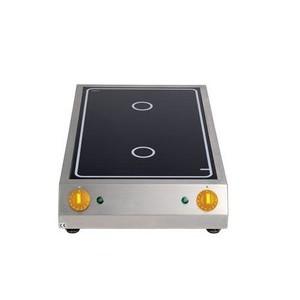 Strahlheizkörper-Kochfläche 2 x 3,0 kW Cookmax black