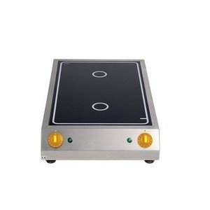 Induktions-Kochfläche 7,0 kW 2 Kochflächen Cookmax black