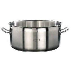 28cm Bratentopf o. Deckel 7,4 ltr. Edelstahl Induktion Professional Cookmax