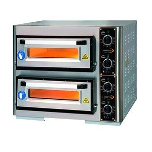 Pizzaofen 2 Backk., 8 Pizzen Ø 25 cm 800 x 640 x 620 mm / 400 V / 8,0 kW Cookmax orange