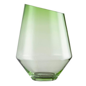 Vase/Windlicht 360 mm grün klar Diamonds Zwiesel 1872