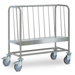 Tellertransportwagen 1-fach hohe Variant Cookmax silver