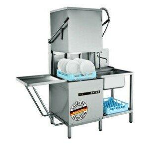 Durchschubspülmaschine mit Spülmitteldosierer und Ablaufpumpe Cookmax black