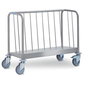 Tellertransportwagen 1-fach niedrige Var Cookmax silver