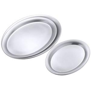 Serviertablett oval 18/10 29x22x1,4 cm Contacto