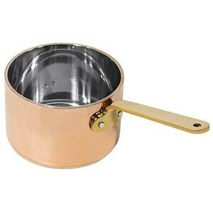 Stielkasserolle 9 cm, tief aus Kupfer/Edelstahl Contacto