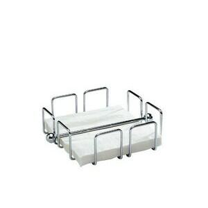 Serviettenhalter Wire 19 x 19 cm H. 6,5 cm verchromt Assheuer & Pott