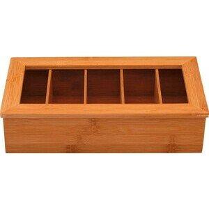 Teebox mit 5-fach Einteilung 36x20,5cm