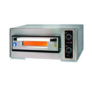 Pizzaofen 1 Backk., 4 Pizzen Ø 25 cm 80,0 x 77,0 x 36,0 400 V / 4,0 kW Cookmax orange