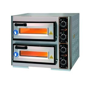Pizzaofen 2 Backk., 2 Pizzen Ø 40 cm 63,0 x 51,5 x 50,0 400 V / 7,0 kW Cookmax orange