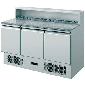 Pizzadette GN 1/1, 3 Türen mit Granit-Ar 1365 x 700 x 870/1080 230 V / 0,33 kW Cookmax orange