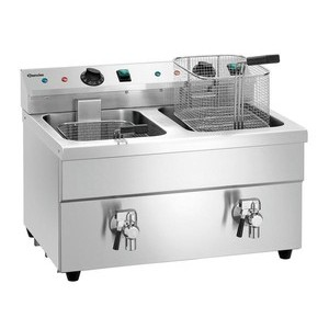 Induktions-Fritteuse 2x8l Farbe silber 220-240V / 7 kW Bartscher