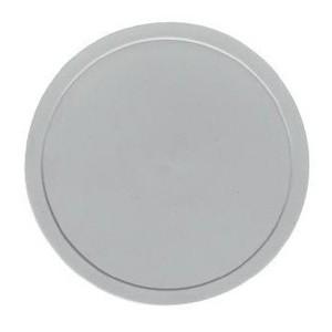 Deckel grau flach Ø140 Kunststoff-Deckel Bauscher
