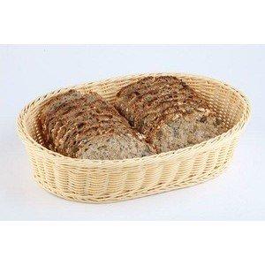 27x18cm Brot - Obstkorb braun Poly-Rattan oval abwaschbar Assheuer & Pott