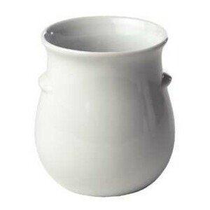 Dressingtopf 1l ohne Aufschrift Keramik weiss ohne Deckel