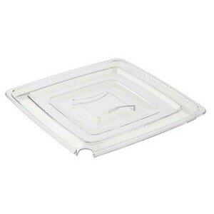Deckel Pure m. Löffelaussparung 25x25 cm Kunststoff klar Assheuer & Pott
