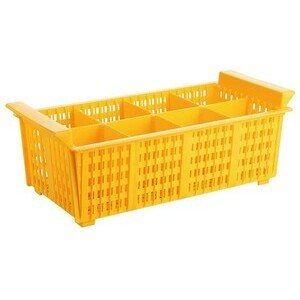 Besteck Geschirrspülkorb Kunststoff 43x21x15 cm gelb Contacto