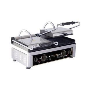 Elektro-Kontaktgrill oben & unten gerillt Grillfläche 52x24cm Cookmax black