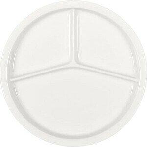 Platte rund 3-tlg. 23 Porzellan weiss Bauscher