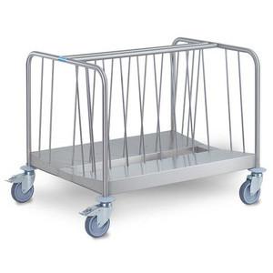 Tellertransportwagen 2-fach niedrige Var Cookmax silver