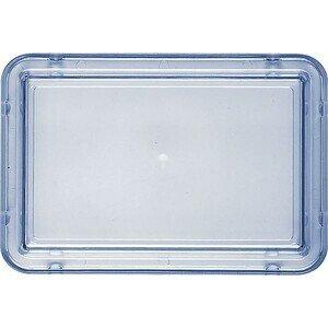Deckel transparent-blau sehr hoch 196x13 Kunststoff-Deckel Bauscher