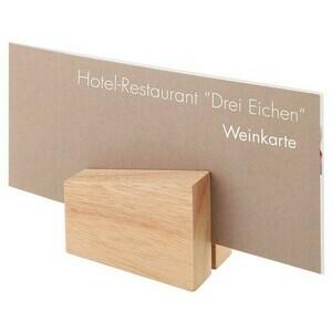 Set 2 St.8,5x6cm Kartenhalter Holz Assheuer & Pott