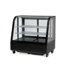 Kühlvitrine Katrin RTW-100 schwarz Umluftkühlung / 230V / m. Beleuchtung Saro