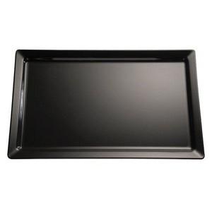 Tablett 32,5x17,5cm GN 1/3 3cm hoch Melamin schwarz Assheuer & Pott