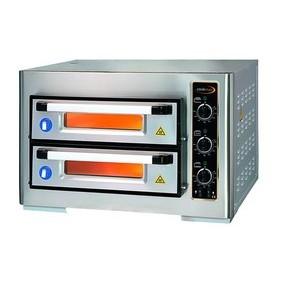 Pizzaofen 2 Backk., 8 Pizzen Ø 25 cm 80,0 x 77,0 x 50,0 400 V / 6,0 kW Cookmax orange