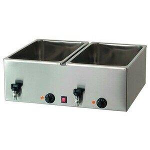 Elektro-Bainmarie 2x GN1/1, H 15cm, mit 230V / 2,0kW Cookmax black