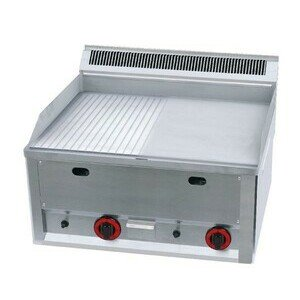 Gas-Grillplatte 1/2+1/2 Cookmax Serie600 Cookmax black