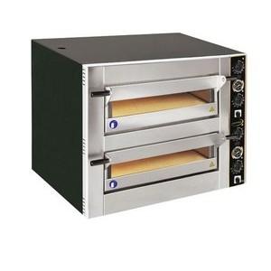 Pizzaofen für 8 Pizzen Ø 30 cm 2 Backkammern, 400 V 10 kW Cookmax black