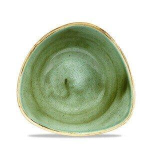 Bowl dreieckig 18,5cm Stonecast Samphire Green Churchill