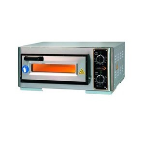 Pizzaofen elektro 1 Backkammer 1 Pizza Ø40cm Maße:63x51,5x29cm Cookmax orange